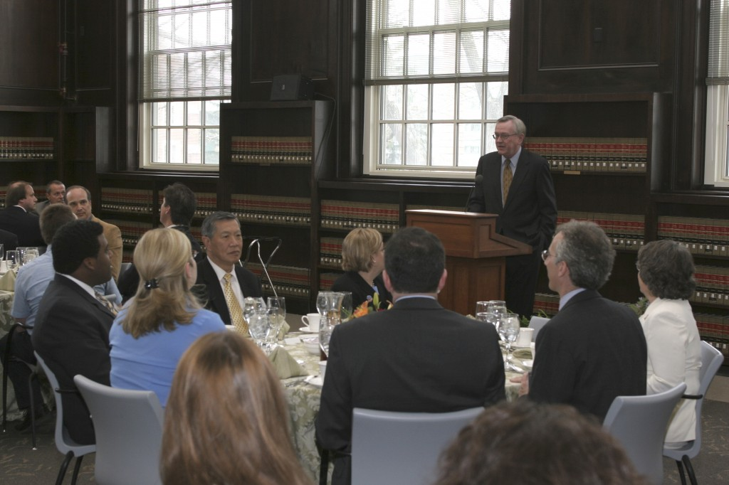 Dedication Luncheon hosted by President Philip Austin