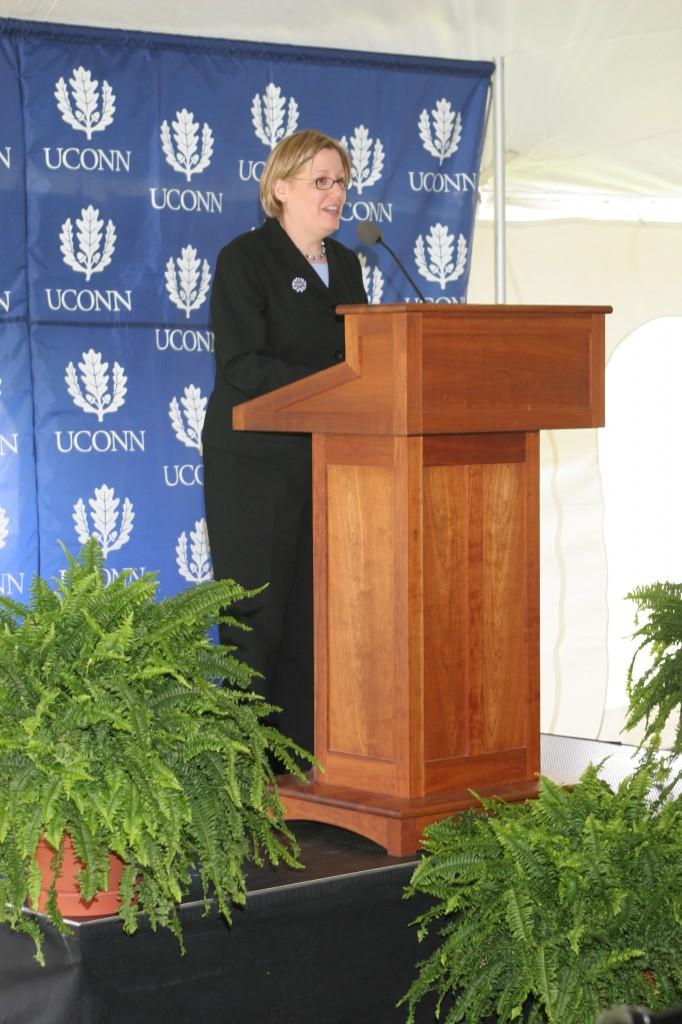 Dedication Ceremony: Guest speaker, NIJ Program Officer Dr. Lois Tully.
